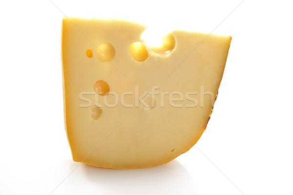 Maasdam swiss cheese slice Stock photo © lunamarina