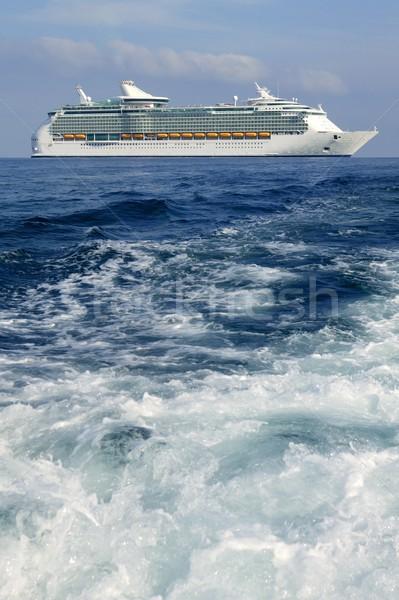Stock fotó: Hajóút · sziget · mediterrán · napfelkelte · Spanyolország · víz