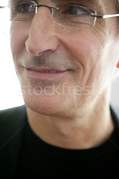 macro crop portrait of senior businessman Stock photo © lunamarina