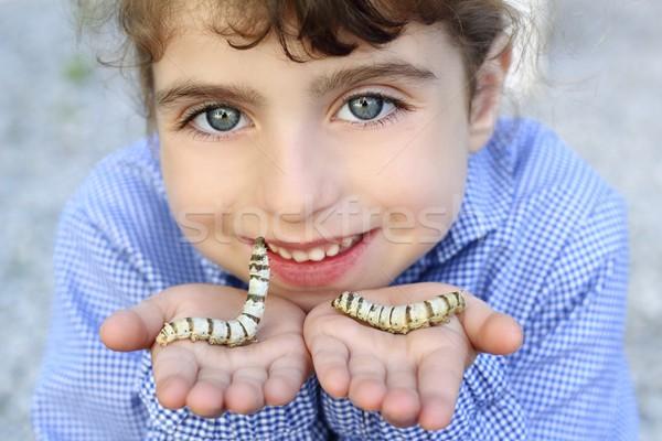 Little girl mãos amor feliz natureza Foto stock © lunamarina