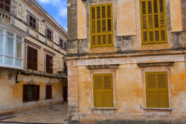 Historique centre-ville ville été bleu détendre Photo stock © lunamarina