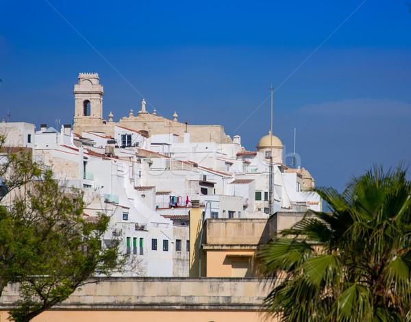 Mao Mahon downtown white city in Menorca at Balearics Stock photo © lunamarina