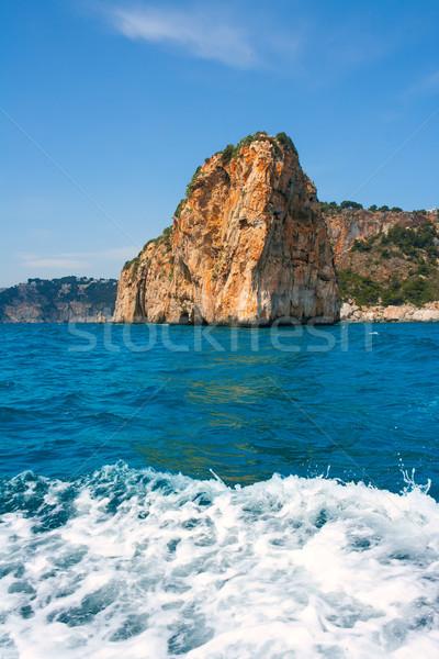 Isla del descubridor in Cabo Nao Cape at White coast Alicante Stock photo © lunamarina