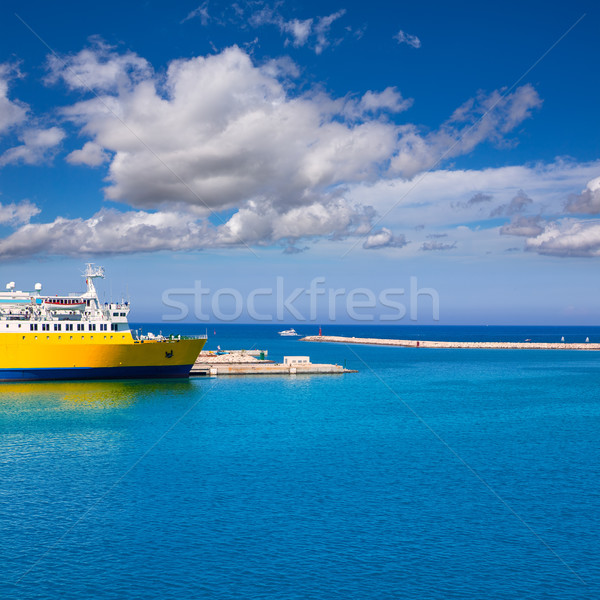 Denia Alicante cruise Ferry boat in Port in sunny day Stock photo © lunamarina