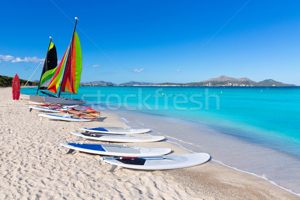 Stock photo: Platja de Muro Esperanza beach Alcudia Bay Majorca