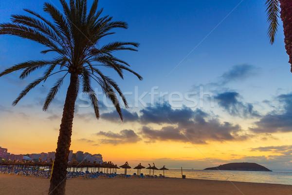 Mallorca nascer do sol praia Espanha sol Foto stock © lunamarina