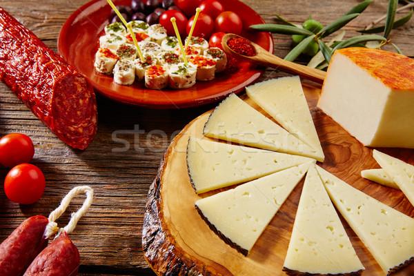 Tapas sausage from Spain jamon lomo cheese Stock photo © lunamarina