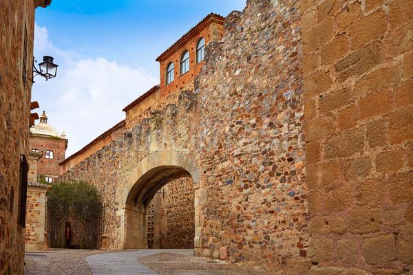 Caceres Arco de la Estrella Star arch in Spain Stock photo © lunamarina