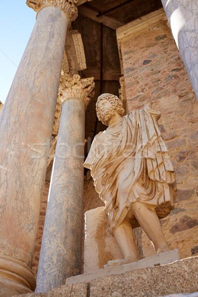 Roma amfitiyatro İspanya Bina şehir Stok fotoğraf © lunamarina