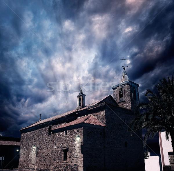 Torremejia church near Merida in Extremadura Stock photo © lunamarina