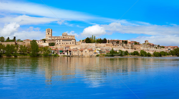 Zamora skyline by Duero river of Spain Stock photo © lunamarina