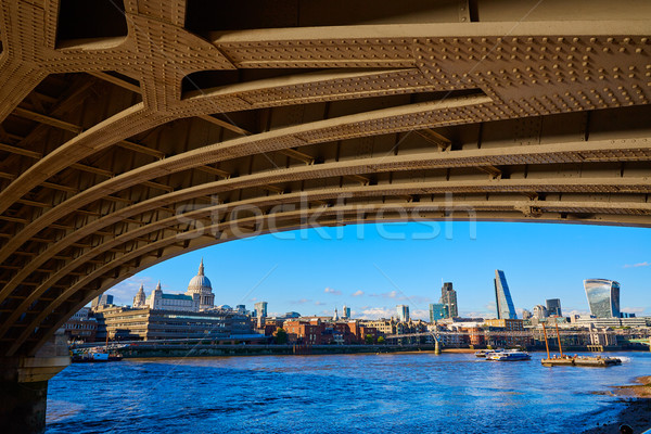 London skyline from Blackfriars new bridge UK Stock photo © lunamarina