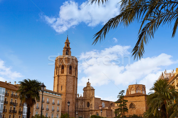 Valencia Miguelete Micalet Cathedral tower Stock photo © lunamarina