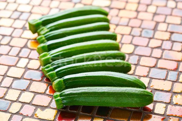 Mini abobrinha legumes vermelho marrom Foto stock © lunamarina