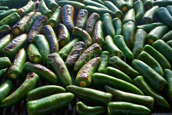 Jalapeno chiles barbecue grilled in Mexico Stock photo © lunamarina