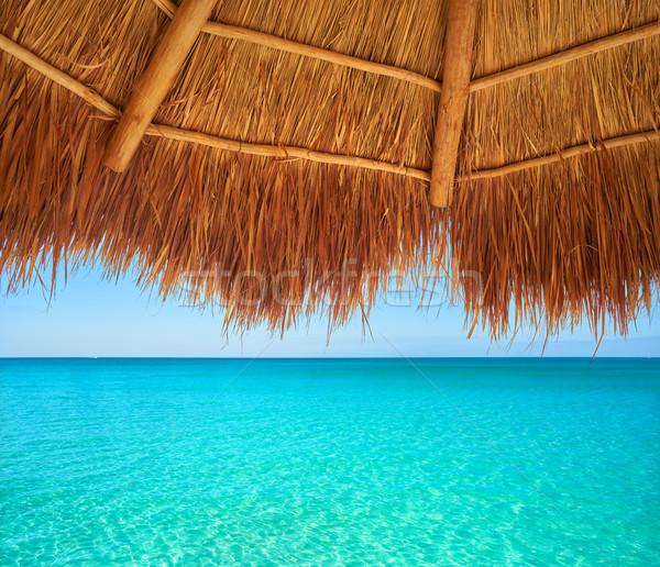 Caribbean beach sunroof in riviera Maya Stock photo © lunamarina