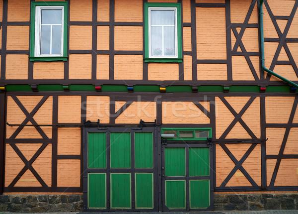 Wernigerode facades in Harz Germany at Saxony Stock photo © lunamarina