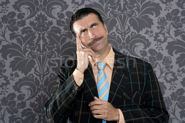 nerd businessman pensive gesture silly funny retro Stock photo © lunamarina