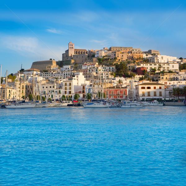 Ibiza Eivissa town with blue Mediterranean Stock photo © lunamarina