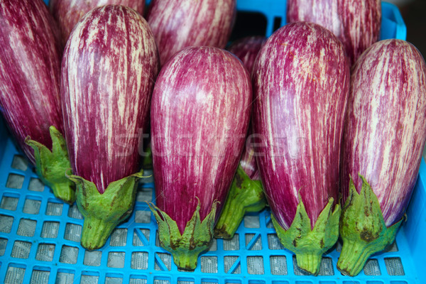 eggplant vegetables in a row on market Stock photo © lunamarina