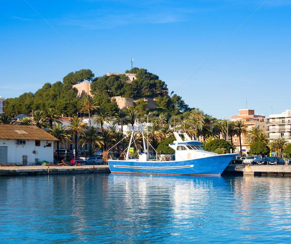 Morze Śródziemne portu w. zamek górskich niebieski Zdjęcia stock © lunamarina