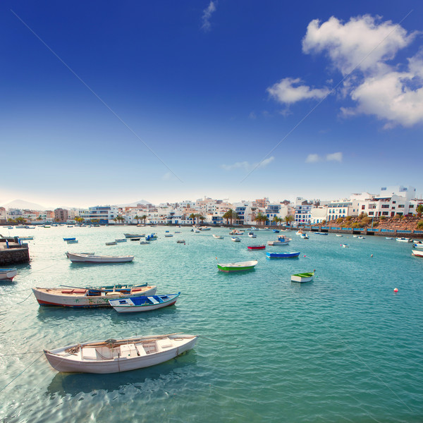 Arrecife in Lanzarote Charco de San Gines boats Stock photo © lunamarina