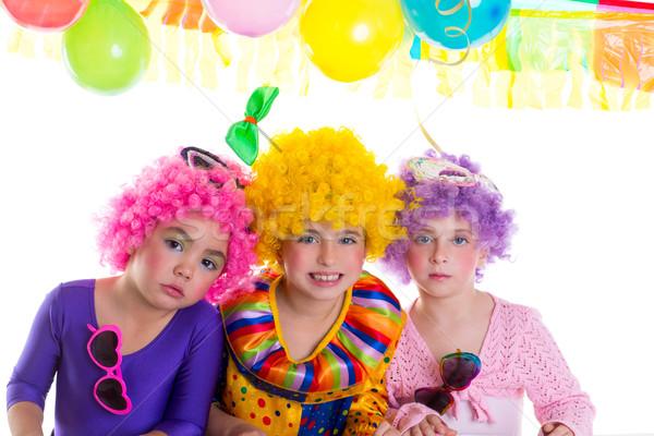 子供 お誕生日おめでとうございます パーティ ピエロ カラフル 休日 ストックフォト © lunamarina