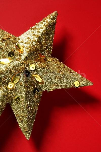 Natale star decorazione rosso carta studio Foto d'archivio © lunamarina