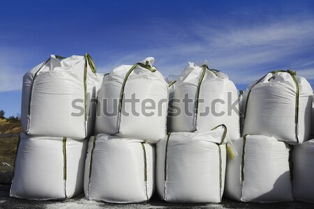 salt big bags sacks stacked rows for iced roads Stock photo © lunamarina