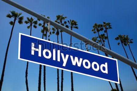 Hollywood segno illustrazione la palme cielo Foto d'archivio © lunamarina