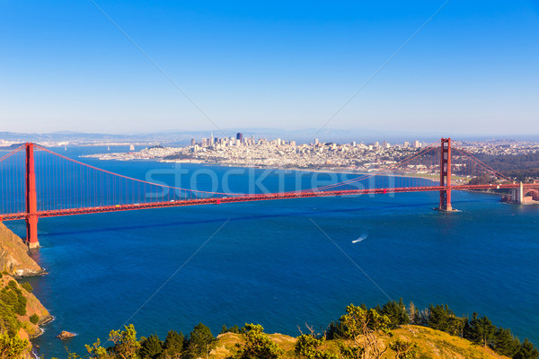 San Francisco Golden Gate Bridge California USA cielo città Foto d'archivio © lunamarina