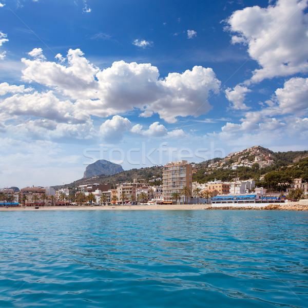 Kikötő marina hegy tengerpart víz tenger Stock fotó © lunamarina
