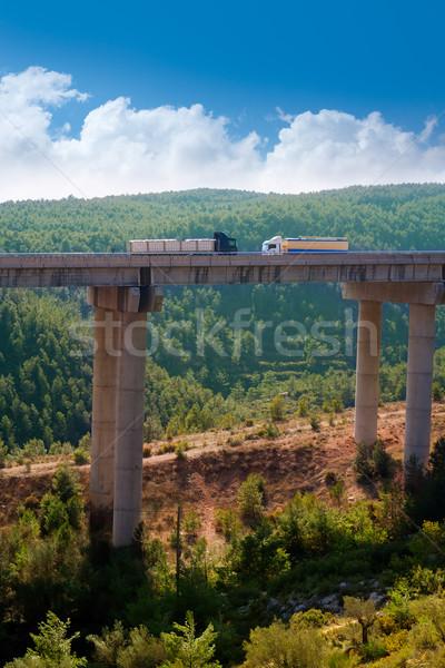 viaducto de Bunol in Autovia A-3 road Valencia Stock photo © lunamarina