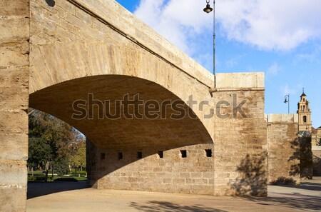 Portal España edificio construcción pared Foto stock © lunamarina