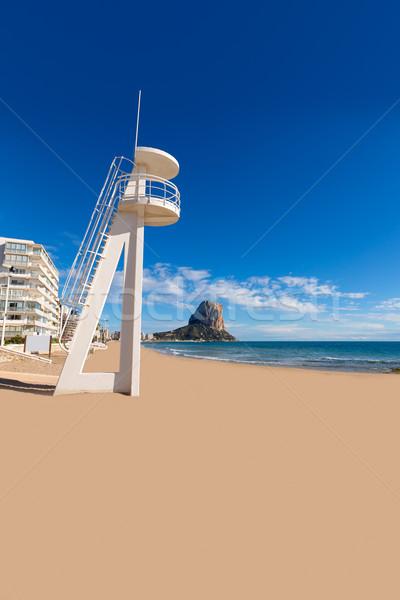 Playa agua casa mar verano océano Foto stock © lunamarina