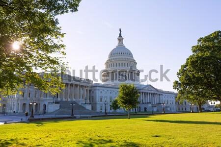 Gebouw Washington DC zonsondergang tuin USA huis Stockfoto © lunamarina