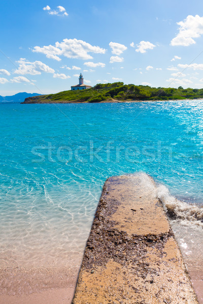 Platja de Alcudia Aucanada beach in Mallorca Stock photo © lunamarina