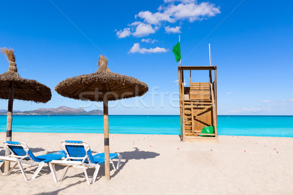 Majorca kan strand eilanden Spanje hemel Stockfoto © lunamarina