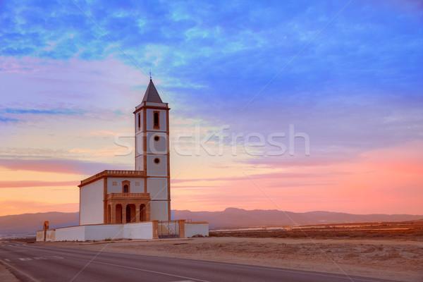 Almeria Cabo de Gata Salinas church in Spain Stock photo © lunamarina