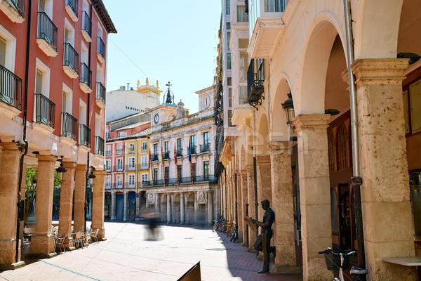 Burgos Plaza Mayor square in Castilla Leon Spain Stock photo © lunamarina