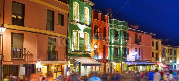 barrio humedo nightlife, in leon downtown  spain Stock photo © lunamarina