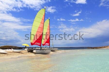 Hobie cat catamaran formentera beach Illetas Stock photo © lunamarina