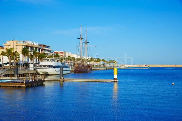 Stock fotó: Kikötő · promenád · mediterrán · Valencia · Spanyolország · tengerpart