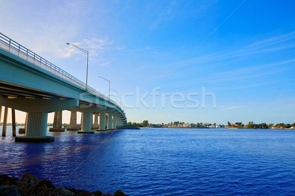 Naples Florida Marco Island bridge view Florida Stock photo © lunamarina