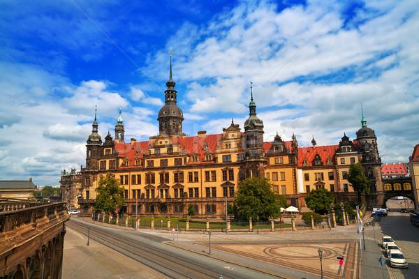 Residenzschloss near Zwinger Dresden Germany Stock photo © lunamarina