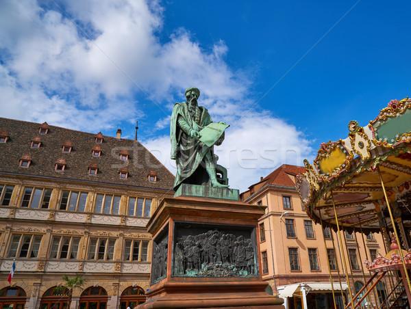 Place Gutenberg in Strasbourg Alsace France Stock photo © lunamarina