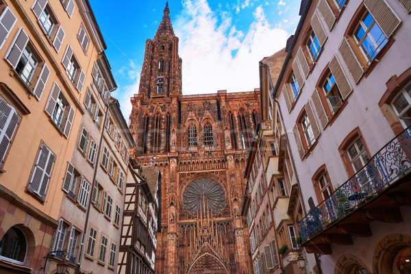 Notre Dame Cathedral in Strasbourg France Stock photo © lunamarina