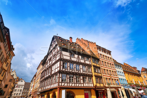 Strasbourg city in Alsace France Stock photo © lunamarina