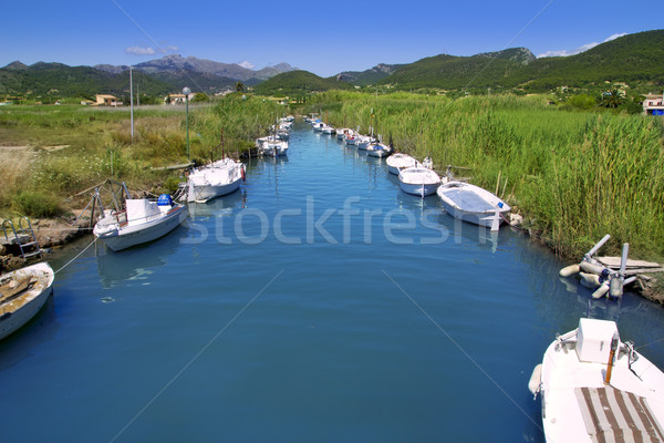 Andratx port marina in Mallorca balearic islands Stock photo © lunamarina