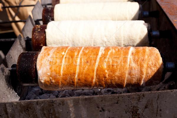 Román fürtös torta kémény csokoládé kenyér Stock fotó © lunamarina